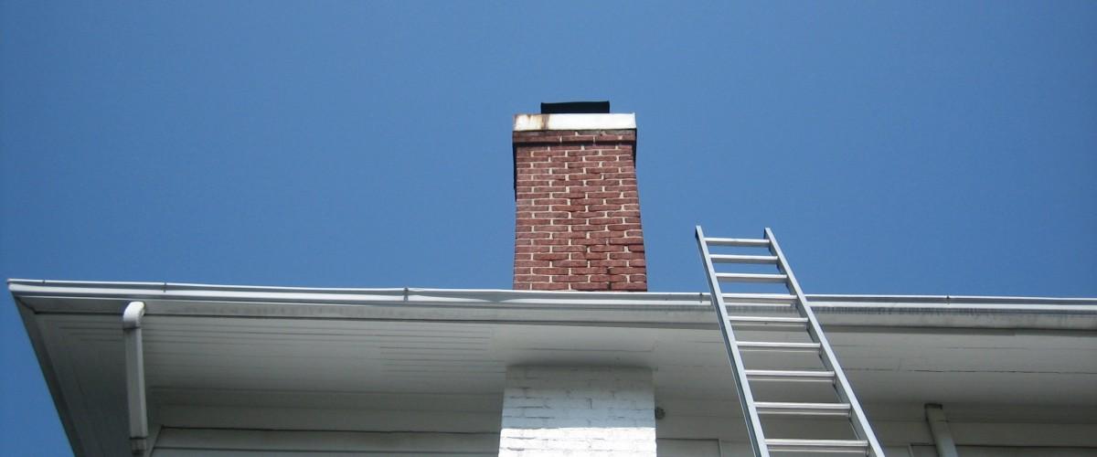 Slanted chimney rebuild