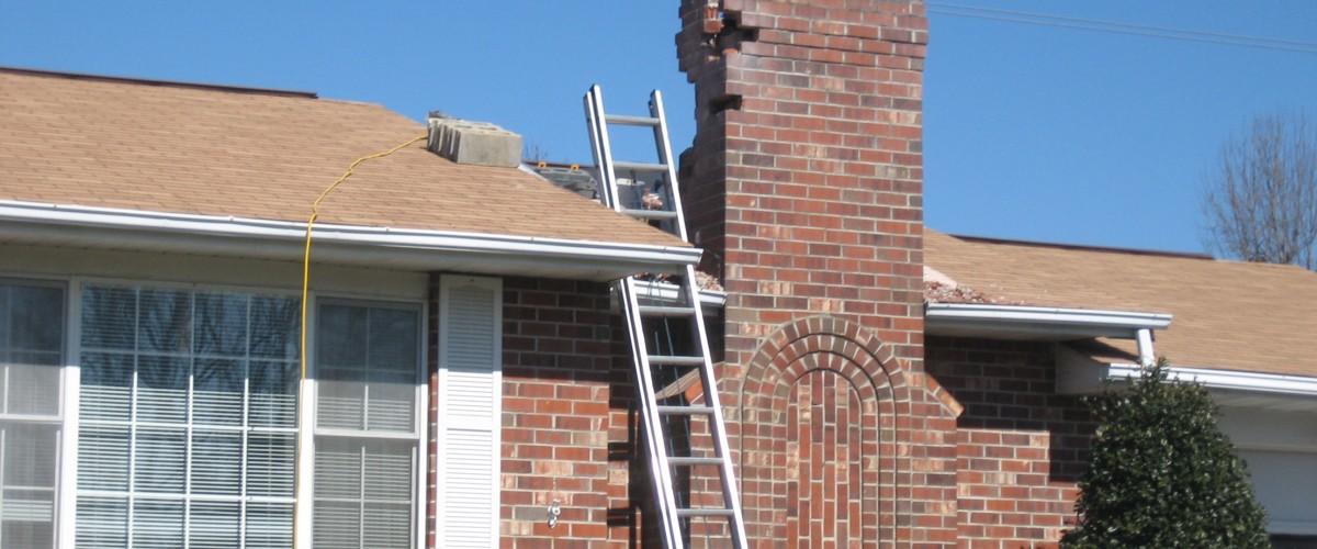 Chimney brick repair