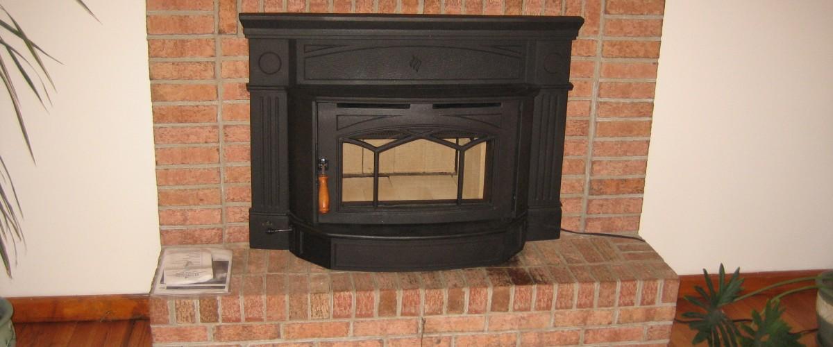 cast iron woodstove insert